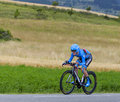 The cyclist andrew talansky chorges france july american from garmin sharp team pedaling during stage of th edition of le tour Royalty Free Stock Images