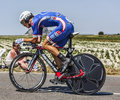 The cyclist arthur vichot le pont landais france july french from fdj fr team cycling during stage of edition of le tour Royalty Free Stock Images