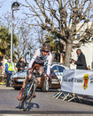 The cyclist bardet romain paris nice prologu houilles france march rd french from ag r la mondiale team riding during prologue of Stock Images
