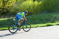 Cyclist on bike race Royalty Free Stock Photo