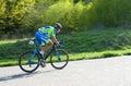 Cyclist on bike race Royalty Free Stock Photo