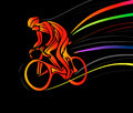 Cyclist in a bike race. Vector illustration Royalty Free Stock Photo