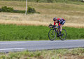 The cyclist cadel evans chorges france july australian from bmc racing team pedaling during stage of th edition of le tour de Royalty Free Stock Photography