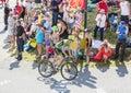 The Cyclist Daniel Martin on Col du Glandon - Tour de France 201 Royalty Free Stock Photo