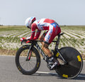 The cyclist daniel moreno fernandez le pont landais france july spanish fromteam katusha cycling during stage of edition Royalty Free Stock Photos