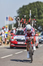 The cyclist eduard vorganov le pont landais france july russian from team katusha cycling during stage of edition of le Royalty Free Stock Photo
