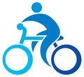 Cyclist icon bicycle symbol cycling sign bicycler bike sign Stock Image