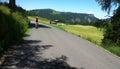 Cyclist in Italian Alps Royalty Free Stock Photo