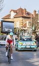The cyclist jakob fuglsang paris nice prologue in houilles france march rd danish from astana pro team riding during of cycling Stock Photography