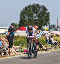 The cyclist jean christophe peraud le pont landais france july french from ag r la mondiale team cycling during stage of Royalty Free Stock Photo
