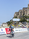 The cyclist jerome pineau le mont saint michel france july french from omega pharma quick step team cycling during stage of Royalty Free Stock Photos