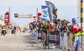 The cyclist jesus hernandez blazquez mont ventoux france july spanish saxo tinkoff team climbing last kilometer of Stock Image