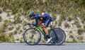 The cyclist jonathan castroviejo chorges france july basque from movistar team pedaling during stage of th edition of le tour Stock Photos
