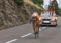 The cyclist juan jose oroz ugalde chorges france july spanish from euskaltel euskadi team pedaling during stage of th edition Stock Image