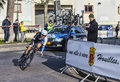 The cyclist kelderman wilco paris nice prologue in houille houilles france march rd dutch from blanco procycling team riding Stock Photo