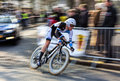 The cyclist kruijswijk steven paris nice pro houilles france march rd panning image of dutch from blanco cycling team riding Stock Photography