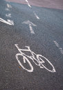 Cyclist lane Royalty Free Stock Photos