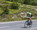 The cyclist lars boom chorges france july dutch from belkin pro cycling team pedaling during stage of th edition of le tour de Stock Images
