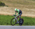 The cyclist laurens ten dam chorges france july dutch from belkin pro cycling team pedaling during stage of th edition of le Stock Photography