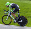 The cyclist laurens ten dam chorges france july dutch from belkin pro cycling team pedaling during stage of th edition of le Stock Image