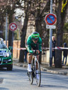 The cyclist malacarne davide paris nice prologue in houill houilles france march rd italian from team europcar riding during of Royalty Free Stock Photography