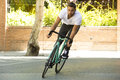 Cyclist Man Riding Fixed Gear ...