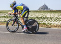 The cyclist michael rogers le pont landais france july australian fromteam saxo tinkoff cycling during stage of edition of Royalty Free Stock Photography