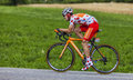 The cyclist mikel nieve iturralde chorges france july polka dot jersey spanish from euskaltel euskadi team pedaling during Stock Images