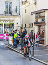 The cyclist monfort maxime paris nice prologue in houilles france march rd belgian from radioshack leopard team riding during of Royalty Free Stock Image