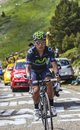 The cyclist nairo alexander quintana rojas col de pailheres france july colombian from movistar team climbing road to col de Stock Photography