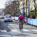 The cyclist palini andrea francesco paris nice houilles france march rd italian from lampre merida team riding during prologue of Royalty Free Stock Images