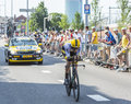 The cyclist paul martens tour de france utrecht netherlands july german of lottonl jumbo team riding during first stage individual Stock Photography