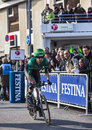 The cyclist pichot alexandre paris nice prologue in houill houilles france march rd french from team europcar taking start of Royalty Free Stock Photos