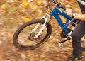 Cyclist racer close up image outdoor scene Royalty Free Stock Photography