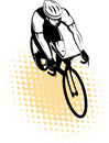 Cyclist riding racing bicycle Royalty Free Stock Photo