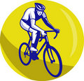 Cyclist riding racing bike Royalty Free Stock Photo