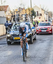 The cyclist robert gesink paris nice prologue in houilles france march rd dutch from blanco pro cycling team riding during of Royalty Free Stock Photography