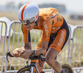 The cyclist romain sicard le mont saint michel france july french from euskaltel euskadi l team cycling during stage of Stock Photography