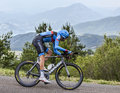 The cyclist ryder hesjedal chorges france july canadian from garmin sharp team pedaling during stage of th edition of le tour Stock Image