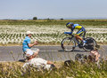 The cyclist sergio paulinho ardevon france july portuguese from saxo tinkoff team cycling during stage of edition of le Royalty Free Stock Photos