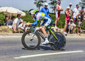 The cyclist simon clarke ardevon france july australian from orica greenedge team cycling during stage of edition of le Stock Image