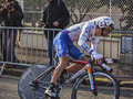 The cyclist soupe geoffrey paris nice prolog houilles france march rd french from fdj team riding during prologue of cycling road Stock Photography
