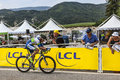 The cyclist stuart o grady chorges france july australian from orica greenedge team pedaling during stage of th edition of le tour Stock Photos