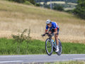 The cyclist sylvain chavanel chorges france july french from omega pharma quick step team pedaling during stage of th edition Royalty Free Stock Photography