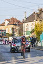 The cyclist tejay van garderen paris nice prologue in houi houilles france march rd american from bmc racing team riding during of Royalty Free Stock Images