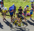The Cyclist Thomas Voeckler - Tour de France 2016 Royalty Free Stock Photo