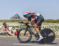 The cyclist tony gallopin le pont landais france july french from radioshack leopard team cycling during stage of edition Royalty Free Stock Photography