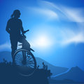Cyclist vector illustration author s in Stock Image