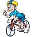 Cyclist vector illustration of cartoon Stock Photography