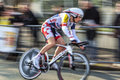 The cyclist willems frederik paris nice prol houilles france march rd panning image of belgian from lotto belisol team riding Royalty Free Stock Photo